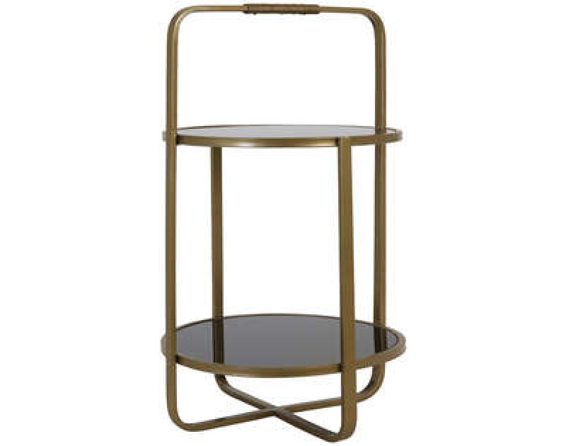 ETAGERE 2 LAYERS ASKER GOLD       - DECOR ITEMS
