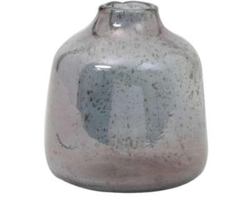 VASE DEONI GLASS STONE FINISH BLUE      - POTS, VASES