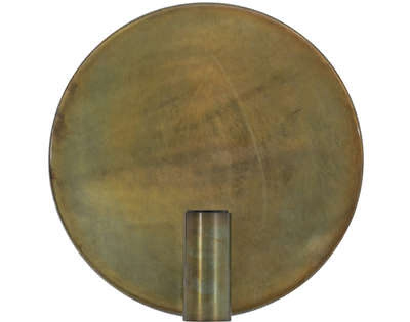 WALL LAMP DISC BRONZE   - WALL LAMPS