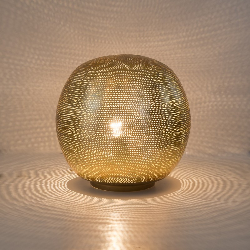TABLELAMP BALL FLSK GOLD 30     - TABLE LAMPS