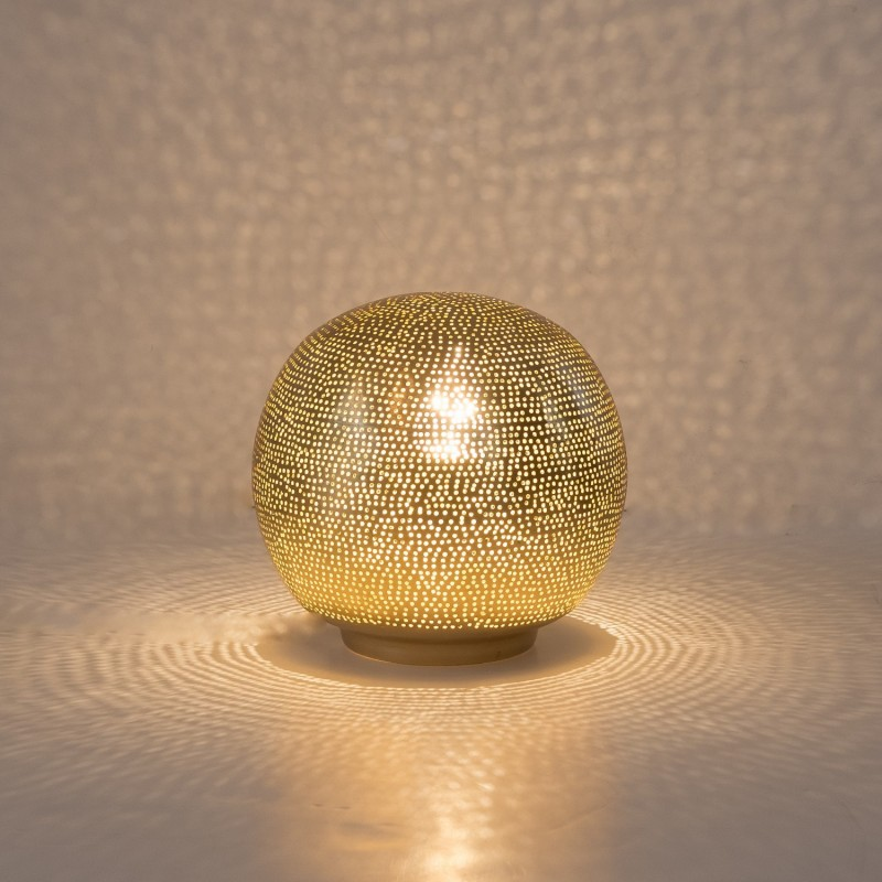 TABLE LAMP HARI BALL SMALL GOLD     - TABLE LAMPS