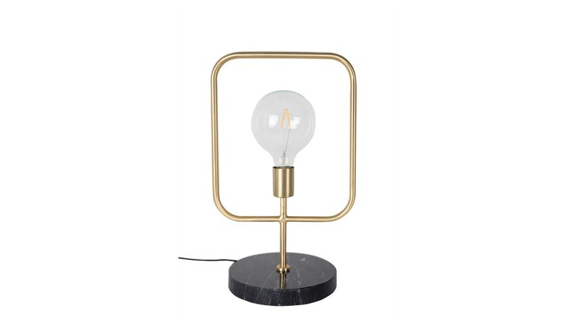 TABLE LAMP SQUARE BRASS FINISH     - TABLE LAMPS