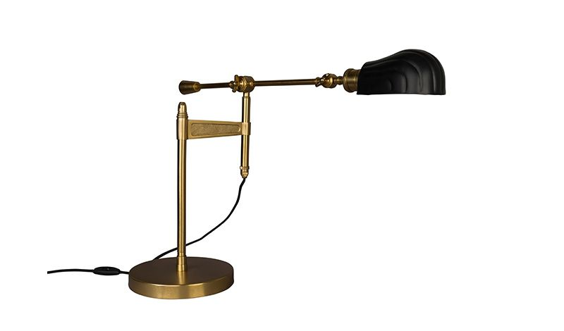 GMZVDESK LAMP CONV BRASS POWDER COATED IRON     - TABLE LAMPS