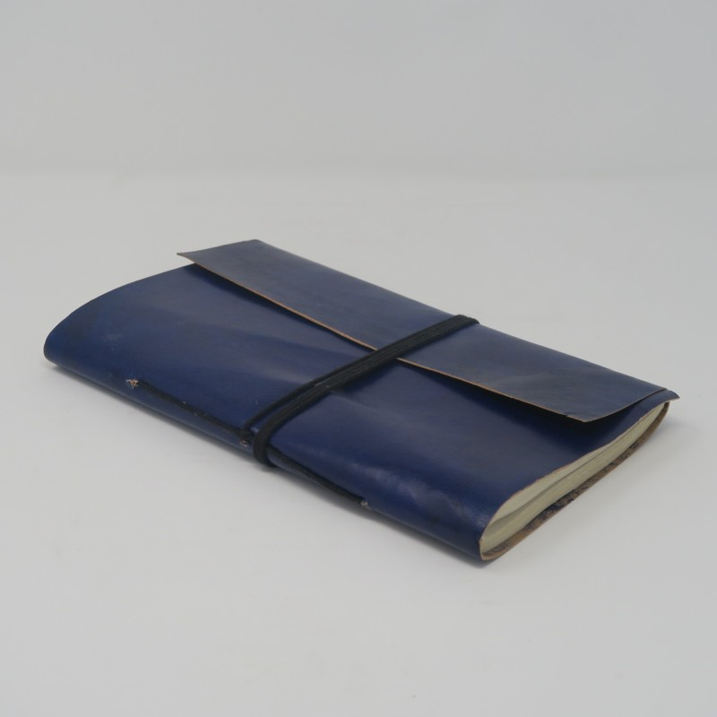 LEATHER NOTE BOOK BLUE
