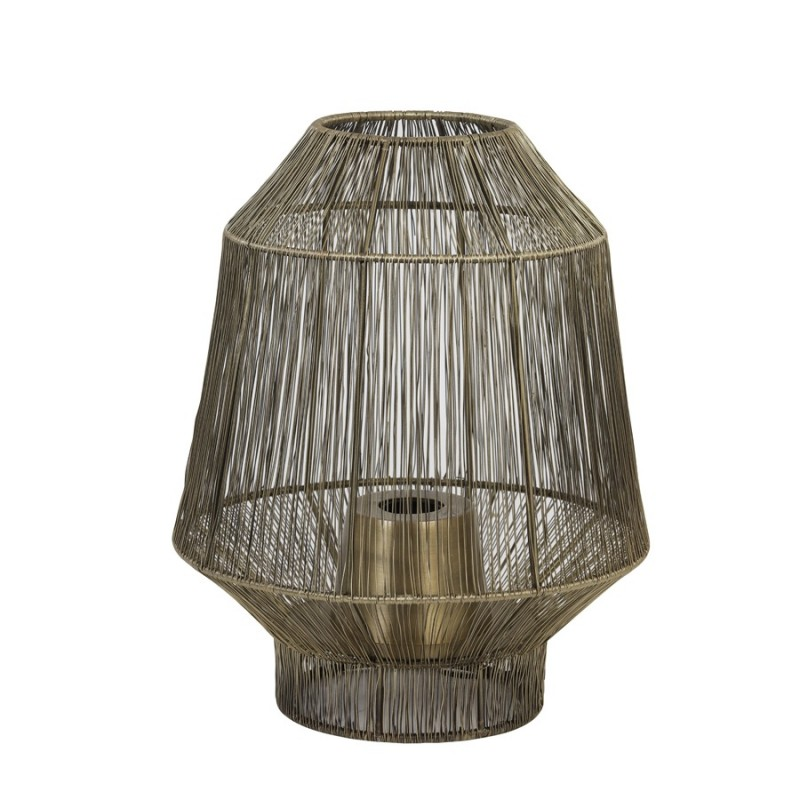 TABLE LAMP WIRE ANTIQUE BRONZE