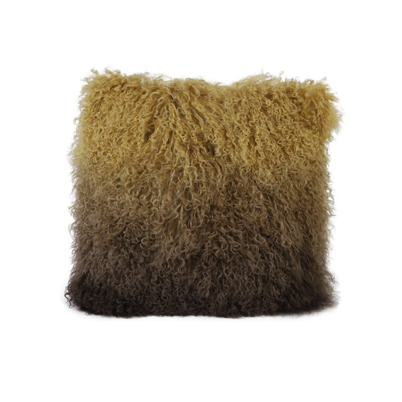 CUSHION VAL OCHER YELLOW AND BROWN     - CUSHIONS