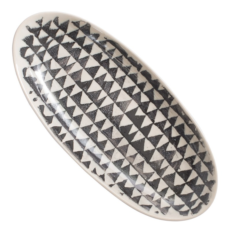 EARTH OVAL PLATE SMALL