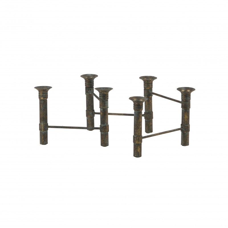 CANDLEHOLDER SNAKE METAL BRASS    - CANDLE HOLDERS
