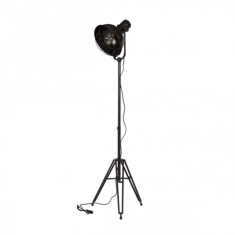 SPOTLIGHT FLOOR LAMP METAL BLACK    - FLOOR LAMPS