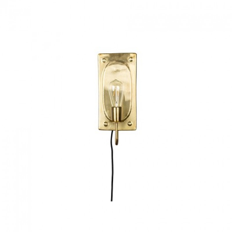 WALL LAMP BRASS PANEL 40   - WALL LAMPS