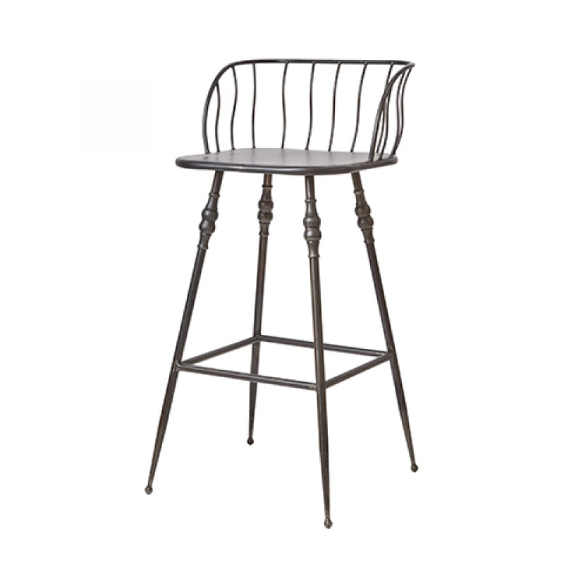 BARCHAIR GREY IRON PROVENCE 70    - CHAIRS, STOOLS