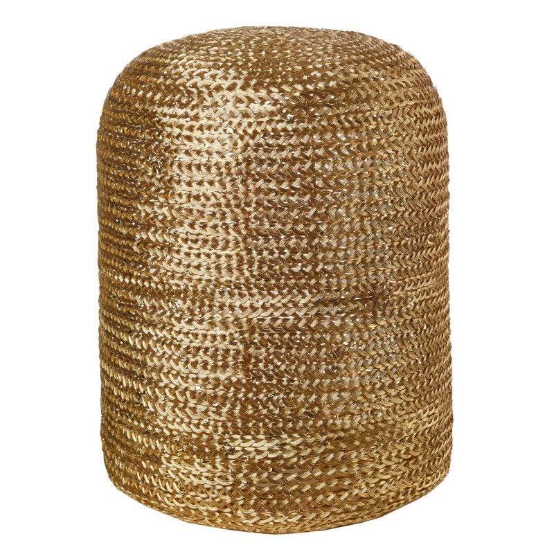 STOOL WOVEN PILL GOLD    - CHAIRS, STOOLS