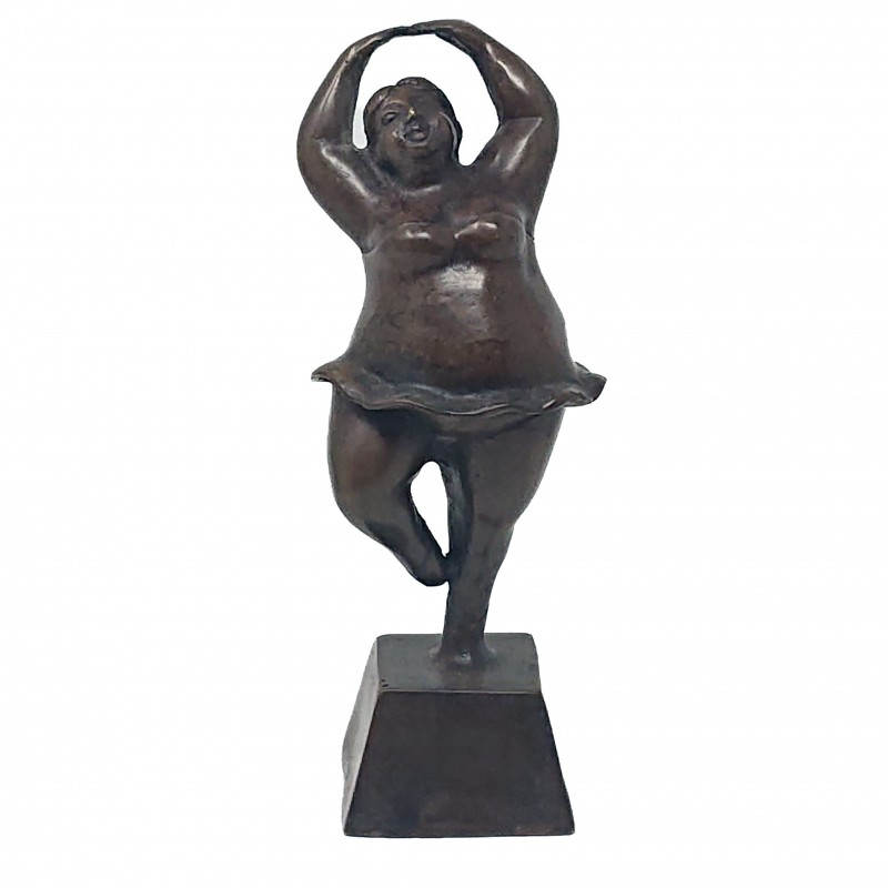 BRONZ BALLET LADY ON STAND - BRONZE STATUES