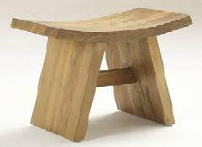 JAPANESE STOOL TEAK WOOD    - CHAIRS, STOOLS