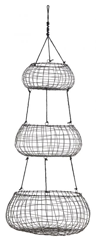 Hanging Basket 3 Level Mattblack