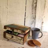 Scrapwood Tea Box       - DECOR ITEMS