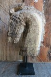 CARVED HORSE HEAD 90CM