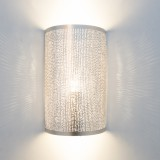 WALL LAMP CYLINDER SILVER   - WALL LAMPS