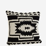 BLACK AND WHITE CUSHION COVER     - CUSHIONS
