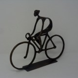 BRONZE BIKER STATUE       - DECOR ITEMS