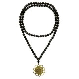 NECKLACE COLOR BLACK GOLD SUN