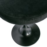 METAL STOOL VELVET BLACK    - CHAIRS, STOOLS