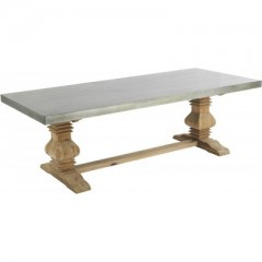 Dining Table Repas Edouard Dark Zinc       - DINING TABLES
