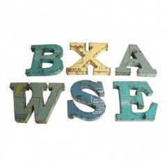 SCRAPMETAL LETTER       - DECOR ITEMS