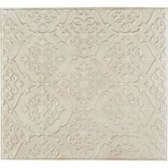 WALL PANEL METAL ANTIQUE WHITE 90