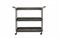 TEA TROLLEY METAL BLACK