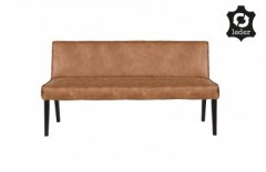 RD RECYCLE LEATHER DINNER BENCH COGNAC   - BENCHES