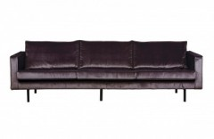 RD VELVET SOFA 3 SEATER GREY