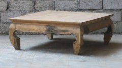 NATUR TEAK OPIUM CAFE TABLE     - CAFE, SIDETABLES