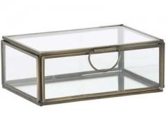 DECO BOX MALESSINA ANTIQUE CLEAR GLASS