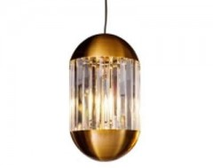 HANINGLAMP GOLD CLEAR GLASS      - HANGING LAMPS