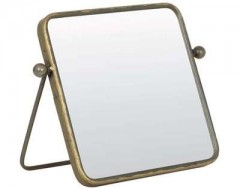 MAKUP MIRROR SQUARE TIN BRONZE