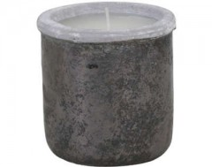 GMLL18W_POT DECO WITH CANDLE CANEJA BLACK