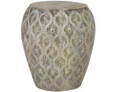 ANTIQUE GOLD SIDETABLE WITH DEEP PATTERN     - CAFE, SIDETABLES