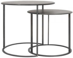 METAL SIDETABLE SET OF 2 COLOR BLACK     - CAFE, SIDETABLES