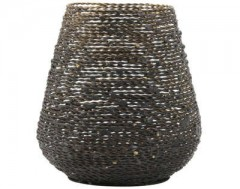 TEALIGHT BUCOS MATTED BLACK GOLD
