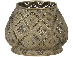 TEALIGHT MAWAR ANTIQUE GOLD