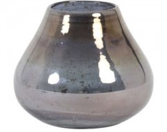 VASE HASORI GLASS STONE FINISH BLUE