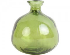 VASE PINTO GLASS GREEN      - POTS, VASES