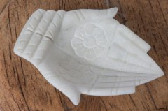 MARBLE HAND BOWL WHITE