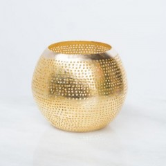 WAX HOLDER ROUND GOLD