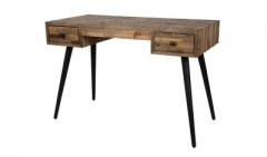 DESK TABLE THEO WITH RECYCLED TEAK PARTS
