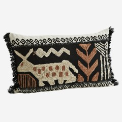 HAND DECORATED CUSHION COVER     - CUSHIONS