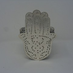 WAX HOLDER DOUBLE SILVER
