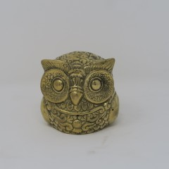 SMALL BRONZE OWL STATUE