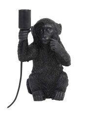 TABLE LAMP MONKEY BLACK